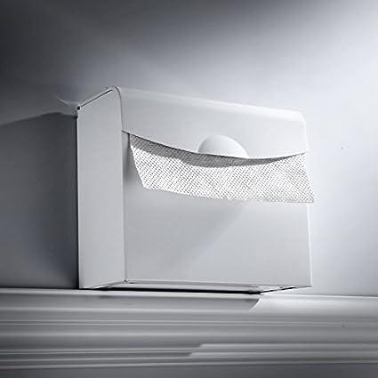 SFSYDDY-Espacio De Aluminio Baño Caja De Papel Rollo De Papel Blanco Libre Rack Punch