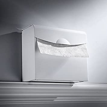 SFSYDDY-Espacio De Aluminio Baño Caja De Papel Rollo De Papel Blanco Libre Rack Punch con Tapa Tipo Toalla De Papel Caja De Papel Doblado Cuadrado Toallero: ...