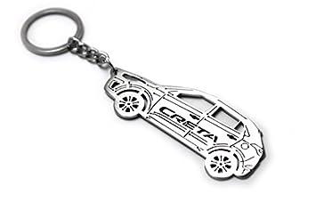 Amazon.com: Llavero con anillo para Hyundai Creta Acero ...