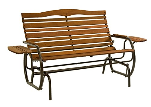 Jack Post CG-12Z Country Garden Double Glider with Trays, Bronze ()