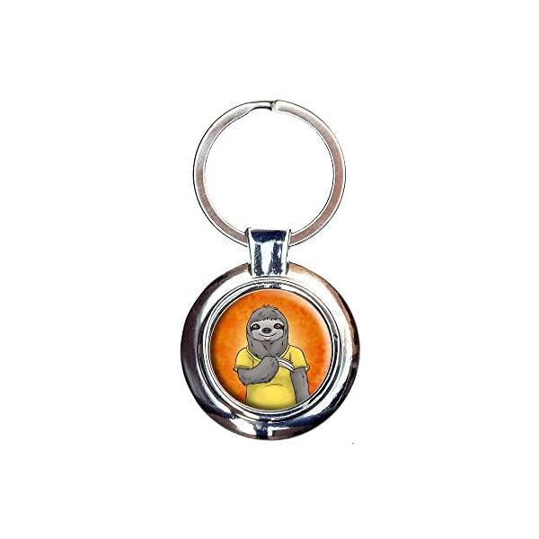 Portrait Of A Sloth Keychain Key Ring -