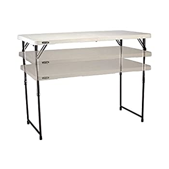 Lifetime 4428 Height Adjustable Folding Utility Table, 48 By 24 Inches, White Granite 8