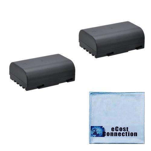 2 Pentax D-LI90 Replacement Batteries for Pentax K-5 II, K-5 IIS, K-01, K-7, K-5, K-3, and 645D DSLR Cameras + eCostConnection Microfiber Cloth