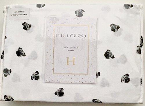 king size PUG / DOG COTTON KING SIZE sheet set (HILLCREST) by Hillcrest