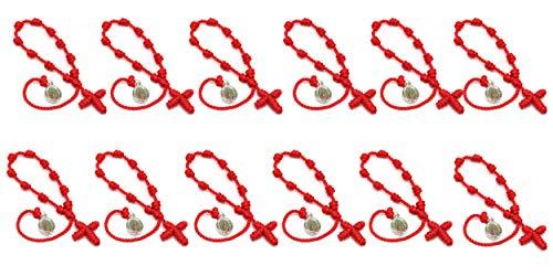 12 Pack Catholic Religious Bracelet with Saint Images of Cathoic Saint (Guadalupe/12pcs)