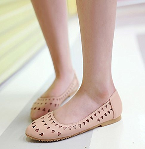 Comfy Low Aisun Cut Pink Stylish Out Womens Flats Hollow Shoes WBc6gp