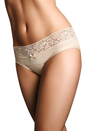 Terramar Viita Women's Cotton Bladder Menstrual Light Anti-Leak Reusable Hipsters Underwear (Pack of 1) Beige/Hipster, Large / 30 Inches