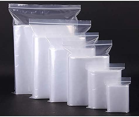 HVDHYY Bolsas Zip Food Bag Self-styled Mouth comida Mano con Cremallera Plástico Almacenamiento Película Grano Cocina Doméstica Recycle Transparente ...