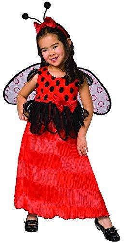 Childs Toddler Ladybug Halloween Birthday costume Dress, Wings
