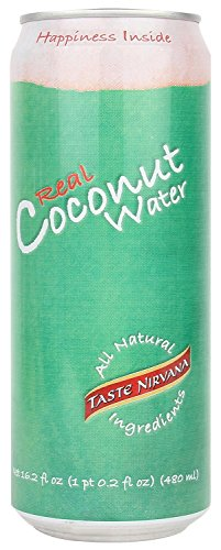 Taste Nirvana Real Coconut Water, 16.2-Ounce (48 jumbo pack) by TASTE NIRVANA