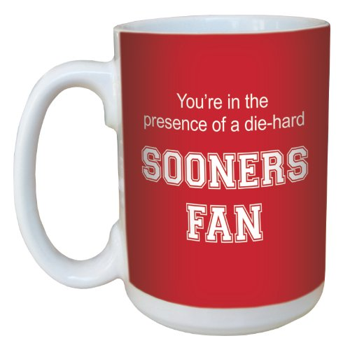 Tree-Free Greetings lm44527 Sooners College Football Fan Ceramic Mug with Full-Sized Handle, 15-Ounce