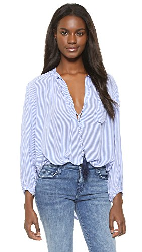 FAITHFULL THE BRAND Women's Alice Shirt, Rider Stripes, Small by Faithfull