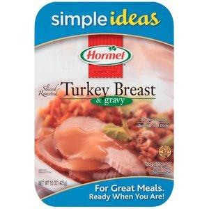 HORMEL ROASTED TURKEY BREAST PREPARED FOOD SLICED WITH GRAVY 15 OZ PACK OF 2
