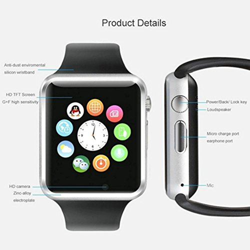 Austec nuevo A1 Bluetooth Smart Watch Wristphone relojes ...