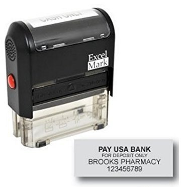 Bank Deposit Stamp with 4 Lines (42A2359)
