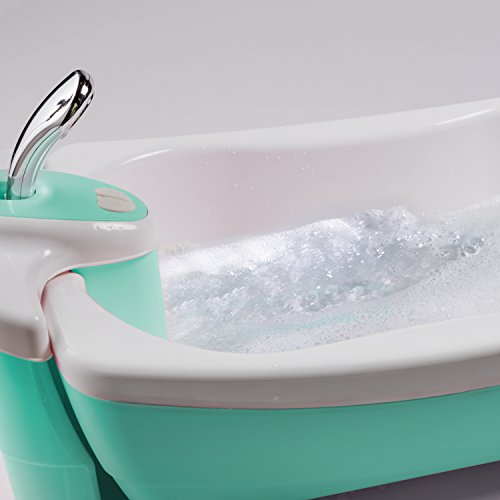 Summer Infant Lil Luxuries Whirlpool Bubbling Spa & Shower Bath Tub, Aqua by Summer Infant (Image #2)