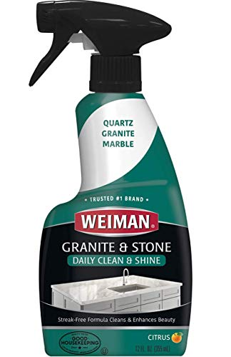 Granite Soap - Weiman Granite Cleaner and Polish - 12 Fluid Ounce - Enhances Natural Color in Granite Quartz Marble Soap Stone and More