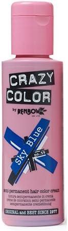 Crazy Color Sky Blue Nº 59 Crema Colorante del Cabello Semi-permanente