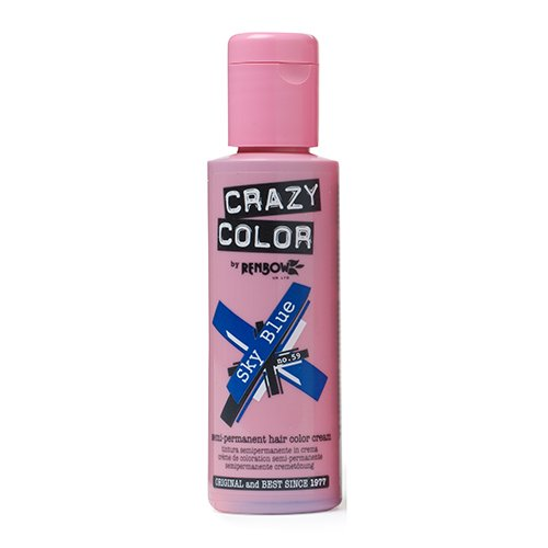 Crazy Color Crema Colorante Vegetale per Capelli , Sky Blue - 100 ml 002249