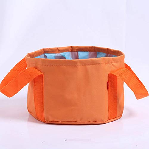 (High Quality | Plastic & Portable Basins | Camouflage Multifunctional Storage Water Bucket 10L Portable Folding Basin Multifunctional Wash Handle Foot Fruit Storage Water | by NAHASU)