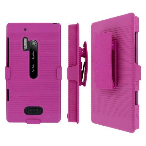 MPERO Collection 3-in-1 Tough Kickstand Case for Nokia Lumia 928 – Pink