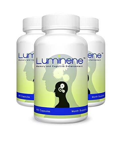 Luminene - Natural Memory and Cognitive Enhancement -180 Capsules - 3 Month Supply - Best Memory Improvement Supplement - Suffering from Memory loss? Try Luminene Natural Memory Enhancement by LumineneTM