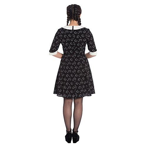 Matou Katzen Meow Schwarz Hell Retrokleid Damen Cremeweiß Kleid Bunny ntOTTvp