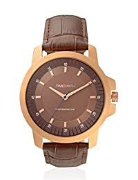 TimeSmith Limited Edition Brown Dial Brown Genuine Leather Watch for Men TSM-087
