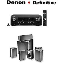 Denon AV Component Receiver (AVRS540BT) + Definitive Technology ProCinema 600 5.1 Home Theater Speaker System Bundle