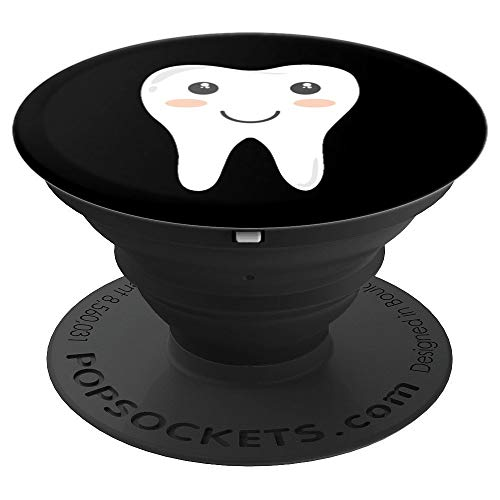 Happy Tooth Smiling Tooth Dentistry Dental - PopSockets Grip and Stand for Phones and Tablets ()