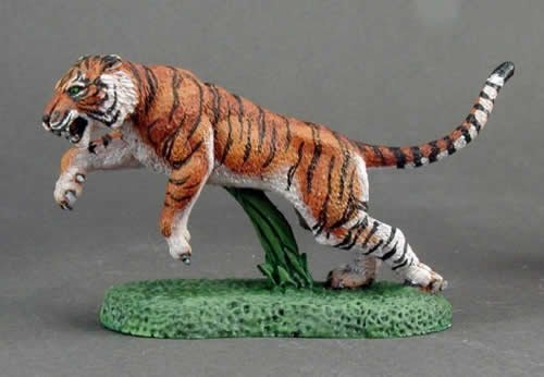 RPR03668 Tiger Dark Heaven Legends Miniature Unpainted Reaper - Miniature Tiger
