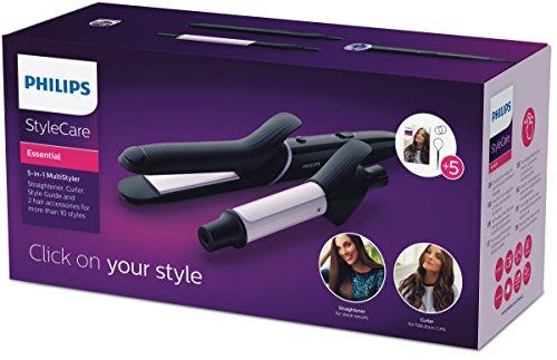 Philips BHH811/00 - Plancha multiestilo 5 en 1, rizador, plancha de pelo, dos accesorios para el cabello: Amazon.es: Salud y cuidado personal