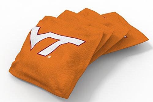 Tech Bean Virginia Bag (Wild Sports NCAA College Virginia Tech Hokies Orange Authentic Cornhole Bean Bag Set (4 Pack))