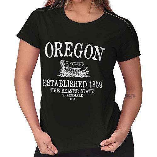 Womens Cute T Shirt Oregon State Trademark Souvenir Destination Location