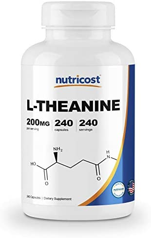 Nutricost L Theanine 200mg 240 Capsules