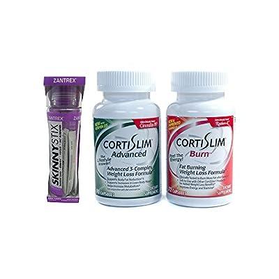 Basic Research Zantrex Skinny Stix Grape 25 ea and Cortislim Advanced Burn Stack