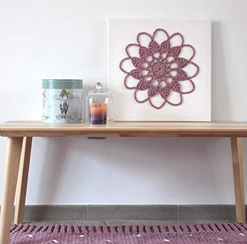 Cuadro Crochet Flor Dunya Lila: Amazon.es: Handmade