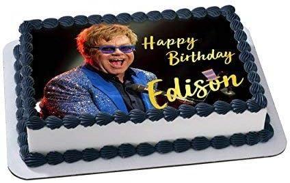 Marvelous Amazon Com Elton John Edible Cake Topper Personalized Birthday 1 Personalised Birthday Cards Beptaeletsinfo