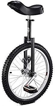 24 Inch Wheel Unicycle with Alloy Rim,Black