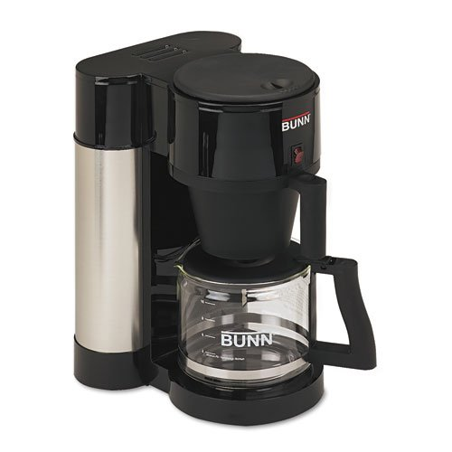Bunn HBXB Stainless Steel and Black 10-Cup Professional Home Coffee Brewer by Bunn