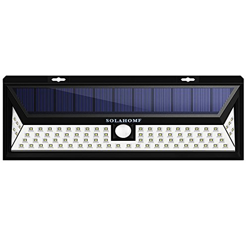 SOLAHOMF Solar Motion Sensor Light Outdoor, Super Bright Security Light 86 LED Solar Panel Powered Outdoor Security Light, Wall Light for Driveway, Garden, Patio, Yard,Deck, Garden by SOLAHOMF