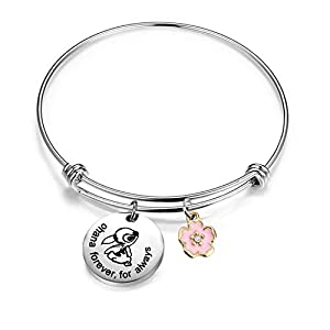 AKTAP Ohana Bracelet Ohana Forever for Always Ohana Jewelry with Hibiscus Flower Charm