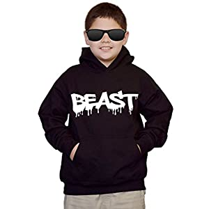 Interstate Apparel Youth Dripping Beast Black Kids Sweatshirt Hoodie