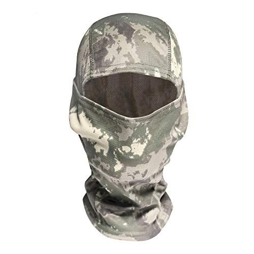 Camouflage Balaclava Face Mask Military Tactical Camouflage Ski Balaclava Black/Woodland/Desert Hood Headwear Ninja Outdoor Cycling Motorcycle Helmet Liner Gear (Woodland Camo)