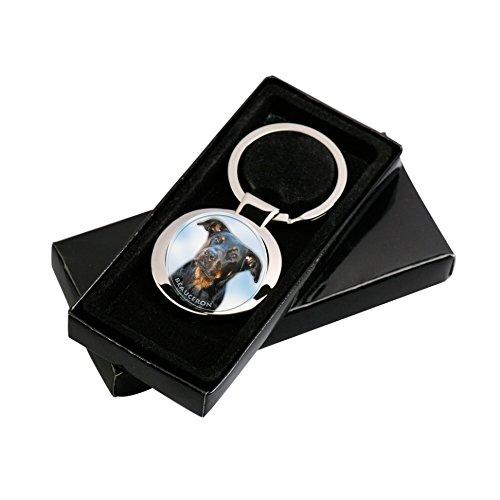 LUKKA Beauceron - Bas Rouge Porte-clés dans ľ emballage cadeau.
