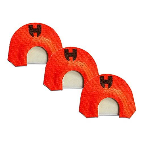Elk Diaphragm Calls Triple Reed Moon Cut 3 Pack, Orange