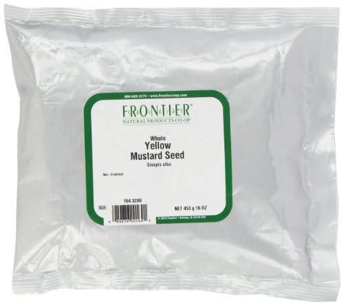 Frontier Mustard Seed, Yellow Whole (#1 Grade), 16 Ounce Bags (Pack of 3) by Frontier