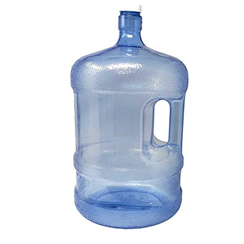 - LavoHome BPA-Free Reusable Plastic Water Bottle 5 Gallon Jug Container with Cap, Easy Grip Carry Handle, Sports Residential & Commercial Use, Camping (6)