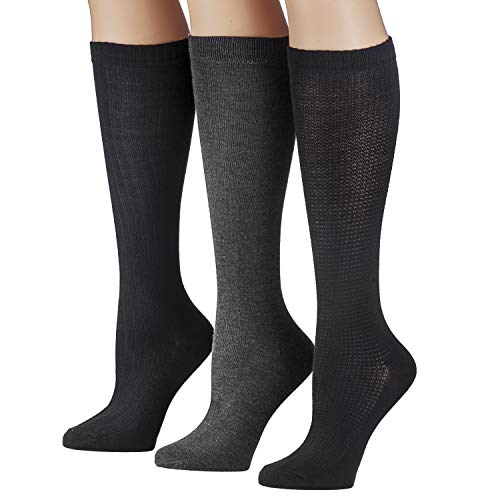 Tipi Toe Women's 6 Pairs Colorful Patterned Knee High Socks