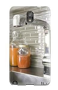 Unique Design Galaxy Note 3 Durable Tpu Case Cover Contemporary Gray Kitchen Backsplash